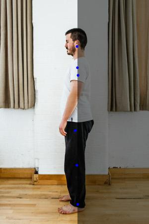 posture debout repères