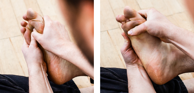 auto-massage pieds arche orteils