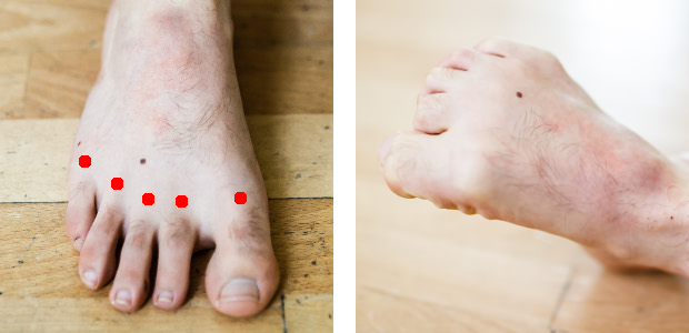 auto-massage pieds articulations localiser