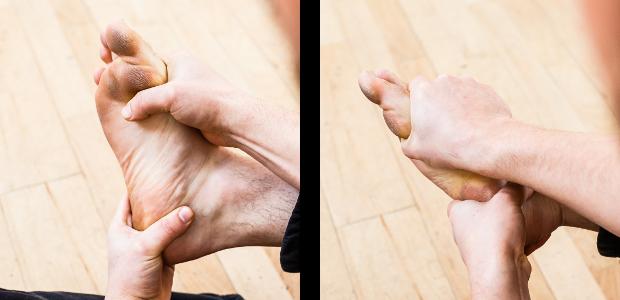 auto-massage pieds twist court
