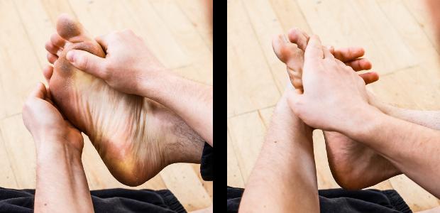 auto-massage pieds twist long