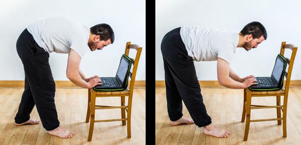 posture ramasser bas
