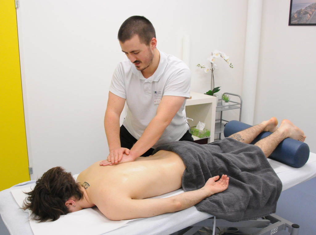 massage classique effleurage dos