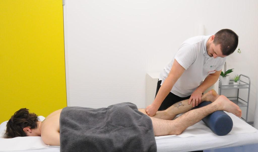 massage sportif genoux