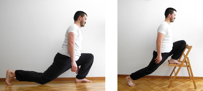 souplesse des hanches split squats