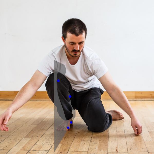 alignement de la jambe pour les squats